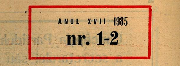 [vintage] Nr. 1-2/1985