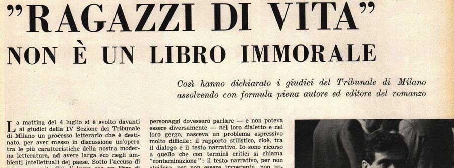 Romanul lui Pasolini