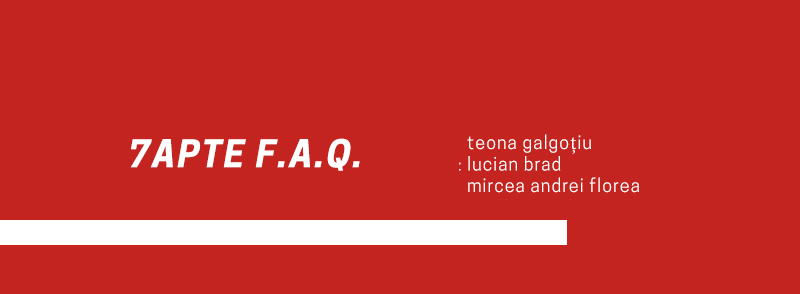 7apte F.A.Q. – Trei debutanți din 2020